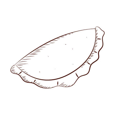 Resumen delicioso esquema de empanada, diseño de ilustraciones vectoriales