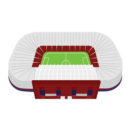 abstract isolated soccer stadium, vector illustration design Vettoriali