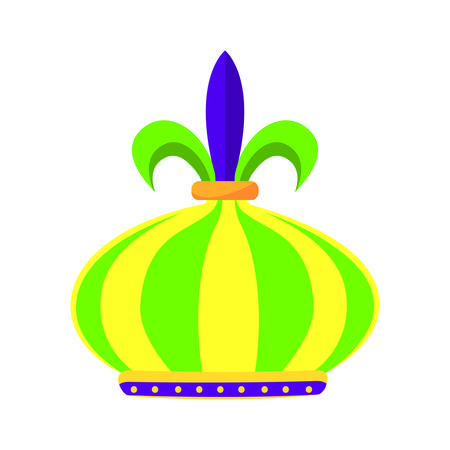 Awesome colorful carnival Crown, vector illustration design