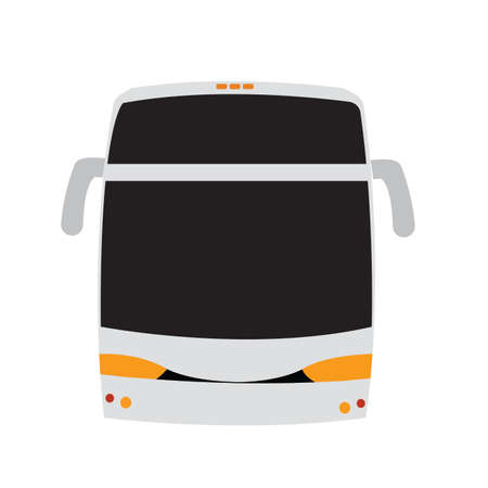 front view of a bus, vector illustration design