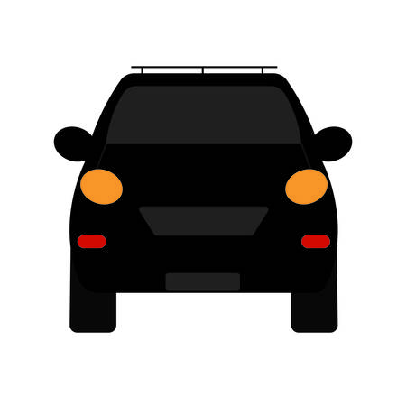 front view of a car, vector illustration design