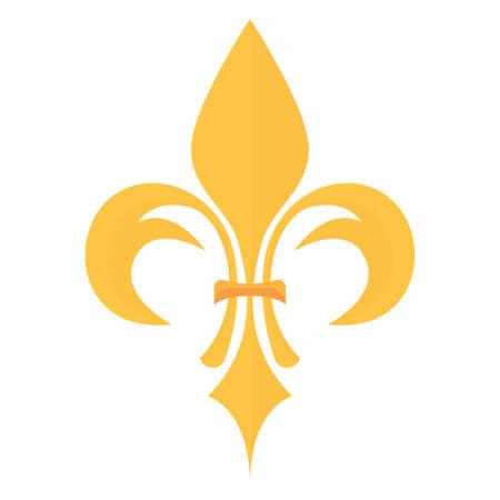 lily heraldic emblem icon, vector illustration design