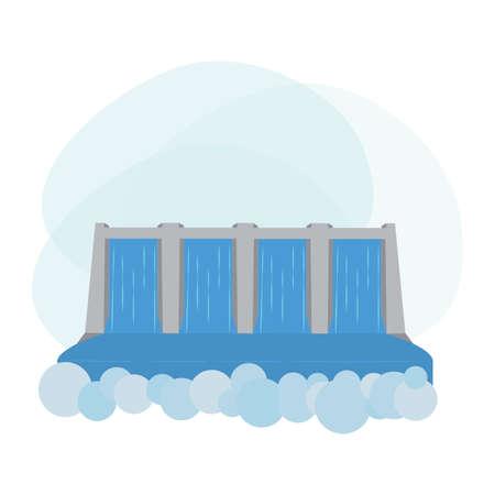 landscape of water renewable energy industry, vector illustration design