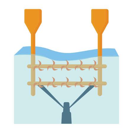 landscape of water renewable energy industry, vector illustration design Illustration