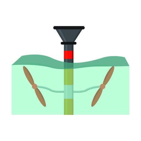landscape of water renewable energy industry, vector illustration design 向量圖像