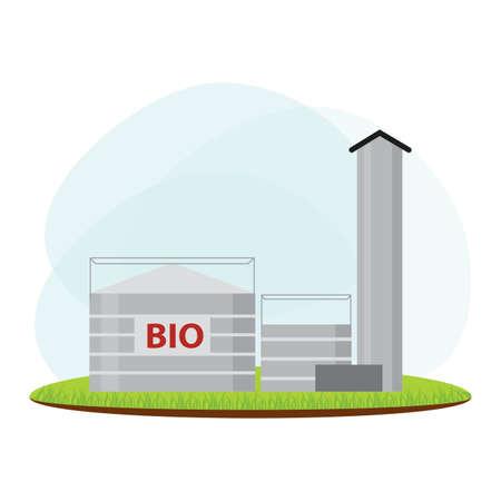 landscape of energy industry, vector illustration design