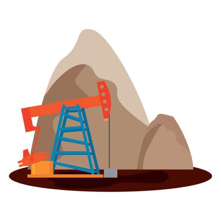 landscape of oil industry, vector illustration design 向量圖像