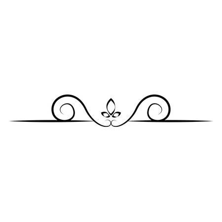 abstract wave border ornament, vector illustration design Illustration