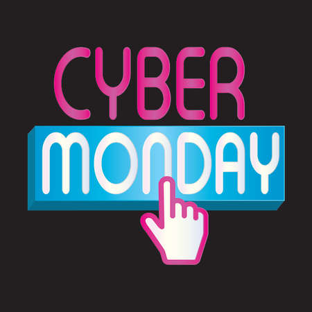 Cyber monday background with some special objects, vector illustration design Illustration