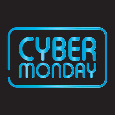 Cyber monday background with some special objects, vector illustration design 向量圖像