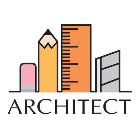 Abstract architect icon Vettoriali