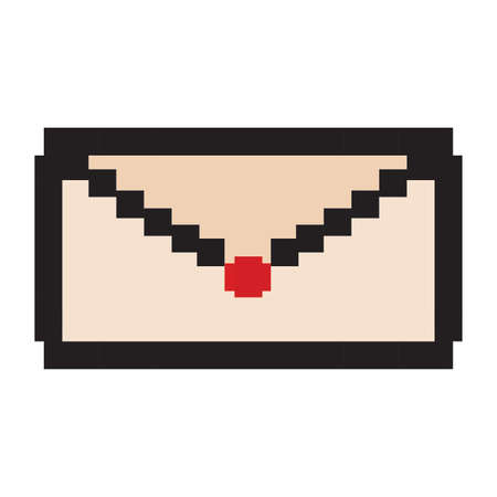 Envelop with pixel style