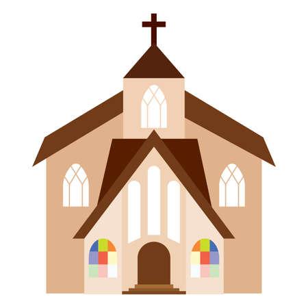Abstract cute church