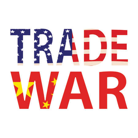 Abstract trade war background with some special objects