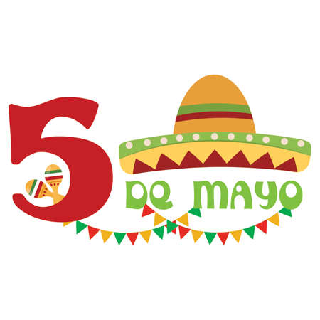 cinco de mayo background with some special objects Illustration