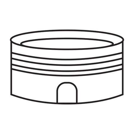 side view of a cartoon stadium, vector illustration design Vettoriali