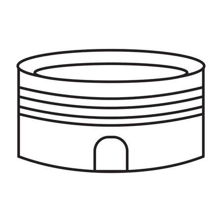 side view of a cartoon stadium, vector illustration design Illustration