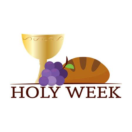 Holy week background Vector Illustratie