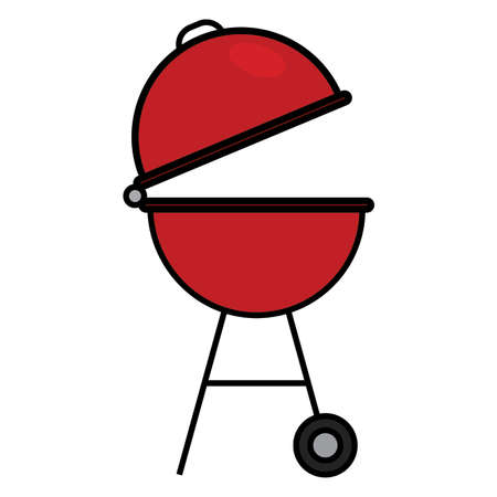 abstract barbecue object on a white backgrond, vector illustration design