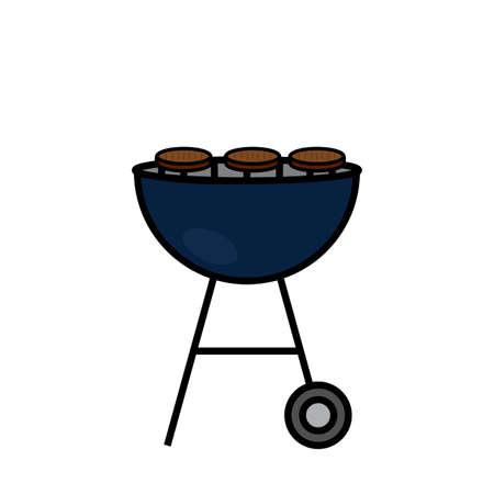 Cartoon barbecue object Illustration