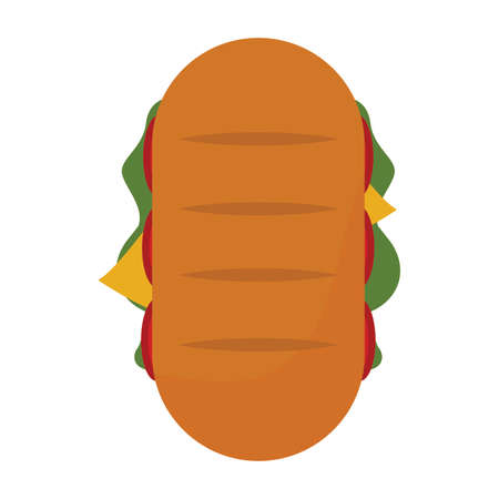 top view of delicious fast food, vector illustration design