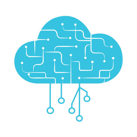 abstract cloud computing icon, vector illustration design Ilustração