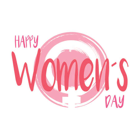 abstract women day background with some special objects, vector illustration design 向量圖像