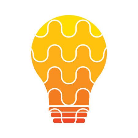 abstract light bulb on a white background