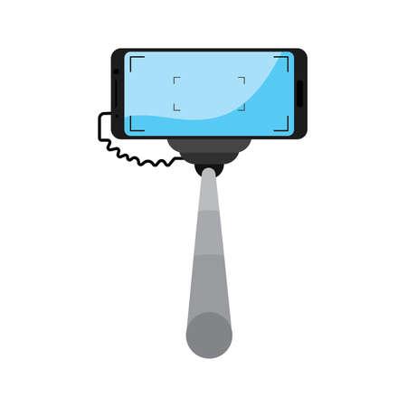 concept of selfie Stock Illustratie