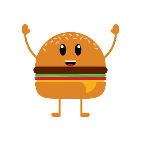 Fast food cartoon Ilustração