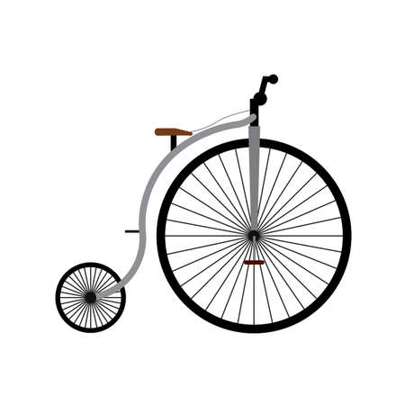 Abstract vintage bicycle isolated on white
