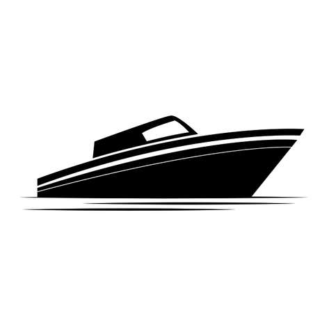 side view of a boat, vector illustration design