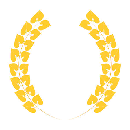 Crown of bay leaf isolated on white Zdjęcie Seryjne - 129199816