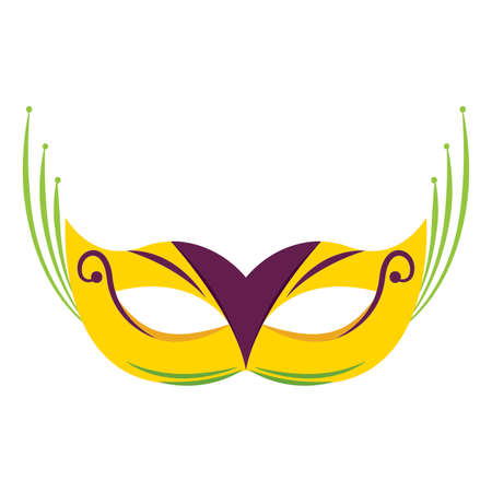 abstract carnival mask on a white background