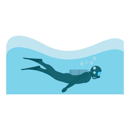 Abstract diving sport
