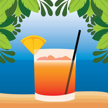 abstract delicious cocktail on a special background, vector illustration design