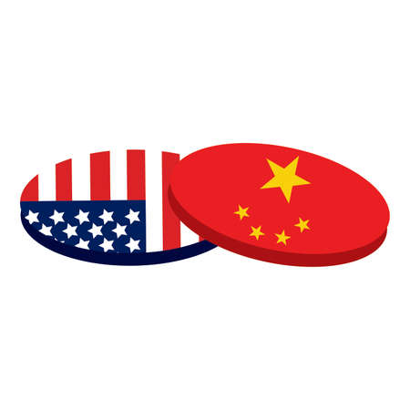 trade war background with some special objects, vector illustration design