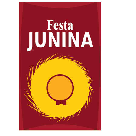 Festa junina background with some special objects, vector illustration design