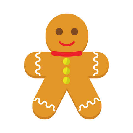 Isolated gingerbread man cookie icon - Vector illustration design Stock Illustratie