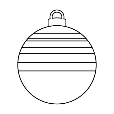 Decorated christmas ball icon - Vector illustration design