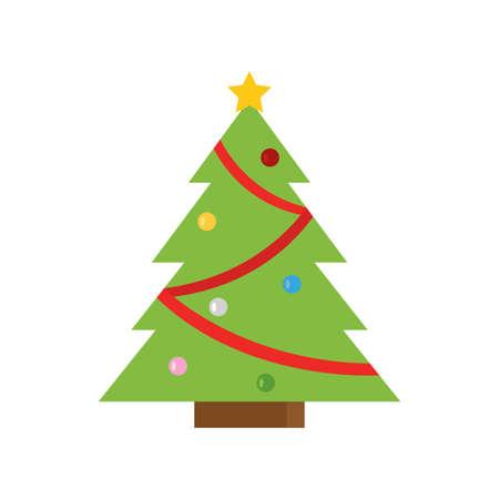 Isolierte Weihnachtsbaum-Symbol - Vektor-Illustration-Design