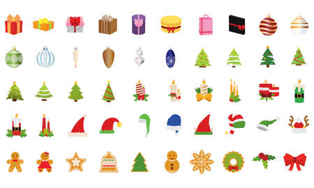 Set of merry christmas icons - Vector illustration design
