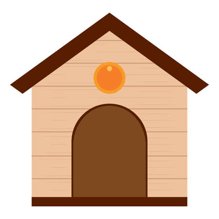 Isolated dog house. Pet house - Vector illustration design