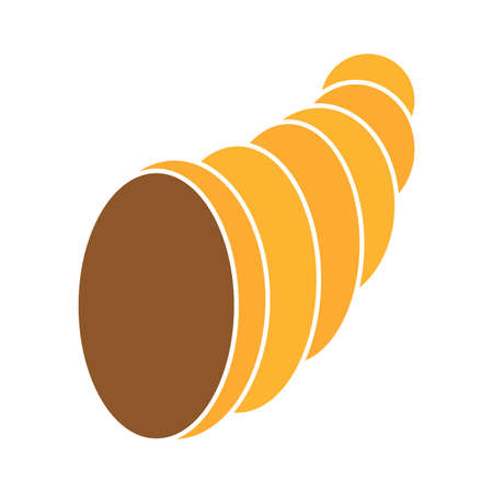 Isolated empty thanksgivig horn - Vector illustration design