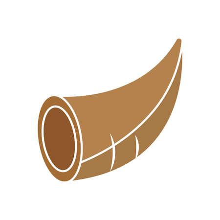 Isolated empty thanksgivig horn - Vector illustration design Foto de archivo - 137187301