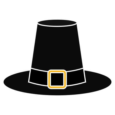 Isolated pilgrim hat icon. Thanksgiving season - Vector illustration design