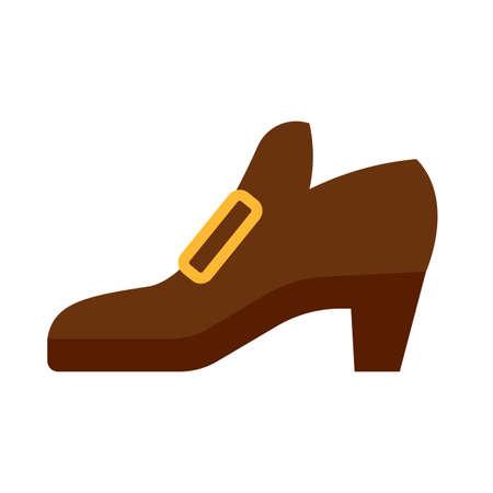 Isolated pilgrim shoe icon. Thanksgiving season - Vector illustration design Illustration