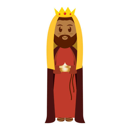 Isolated wise men. MAnger character - Vector illustration design Иллюстрация