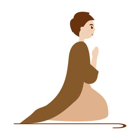 Saint Joseph. Manger character - Vector illustration design