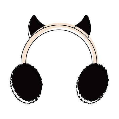 Isolated earmuffs icon. Winter clothes - Vector illustration design Vectores